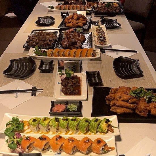 Tag a friend you think could tackle this feast! 🍣  Book your ultimate sushi and grill experience today at www.bluesakura.co.uk🥢🌸💙
