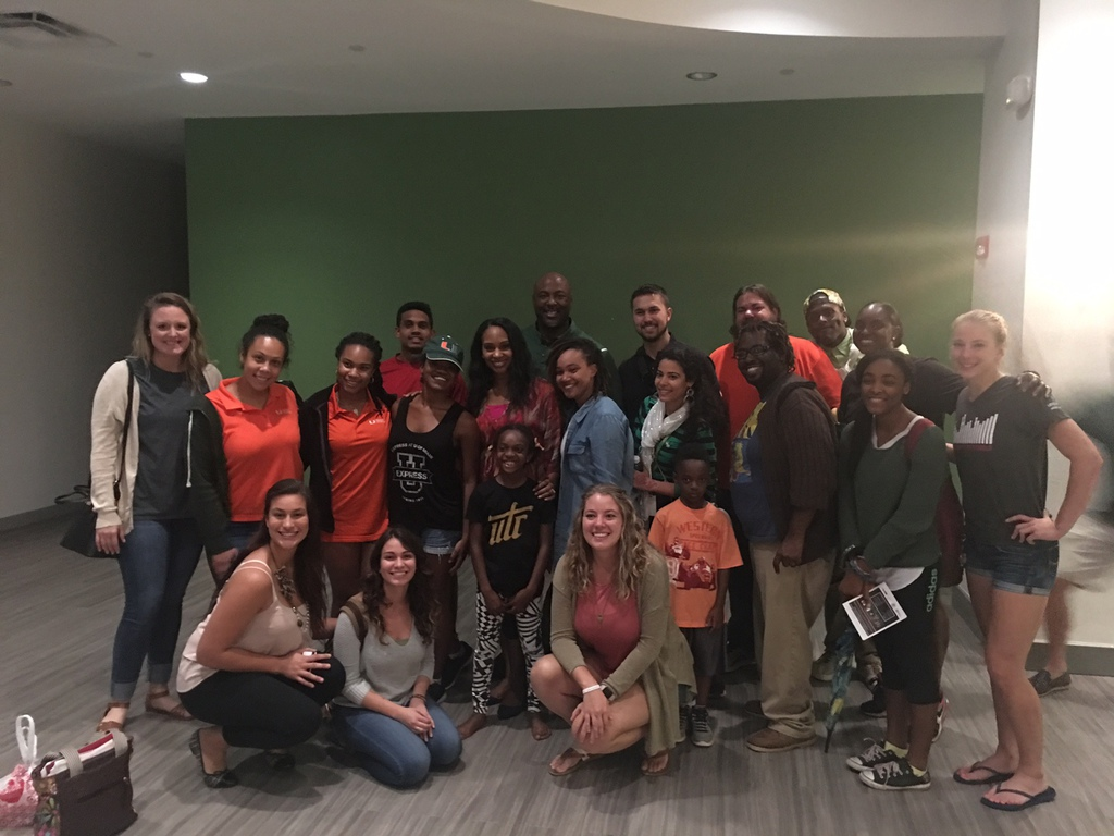 w/ University of Miami Athletes
