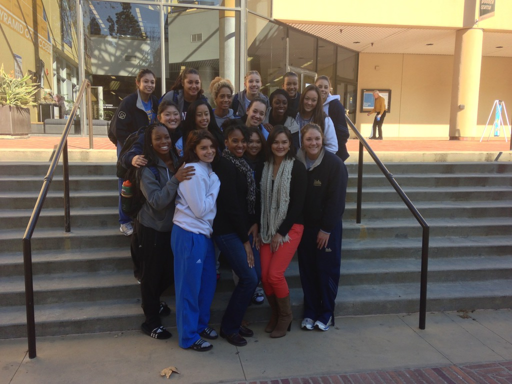 w/ UCLA Gymnastics Team