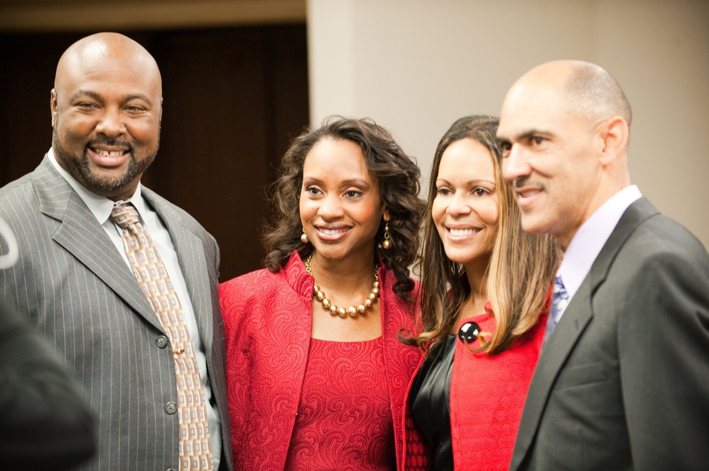 w/ Lauren and Tony Dungy