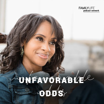 New!… - The Unfavorable Odds Podcast is a part of the FamilyLife Podcast Network.Kim Anthony introduces us to men and women who have faced trials, tragedies and suffering and have discovered God's presence in the midst of their pain.Though their circumstances vary, one common element is that they each have experienced God's sufficient grace right when they needed it the most.Kim's hope is that with each new episode of Unfavorable Odds, listeners will be encouraged to find their strength in Jesus in the midst of every obstacle they face. As we learn to depend on Him, we find that He is able to help us overcome even what seems to be the most unfavorable of odds.