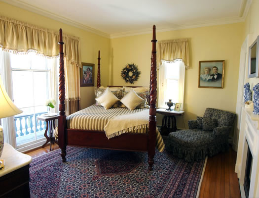 The Sarah Kendall Room is named for the lady of the house and features a queen-size bed, and shower.