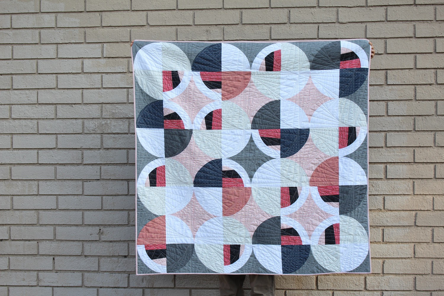 Capitol - 52x51 | 2018, Quilt 016Modern Fans by Suzy Quilts