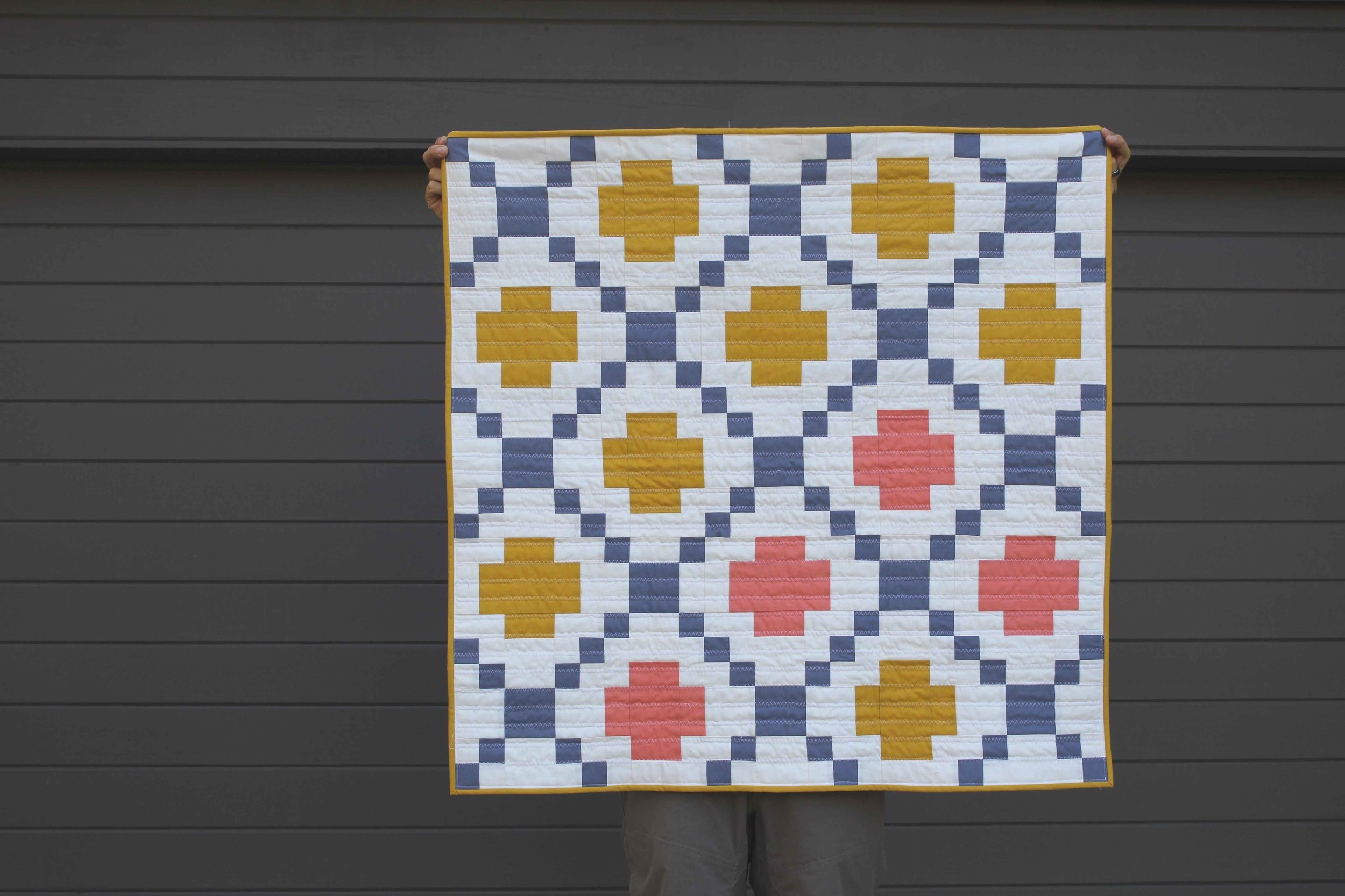 Highland Scramble - 37x37 | 2018, Quilt 023Modern Crossing by Patchwork and Poodles