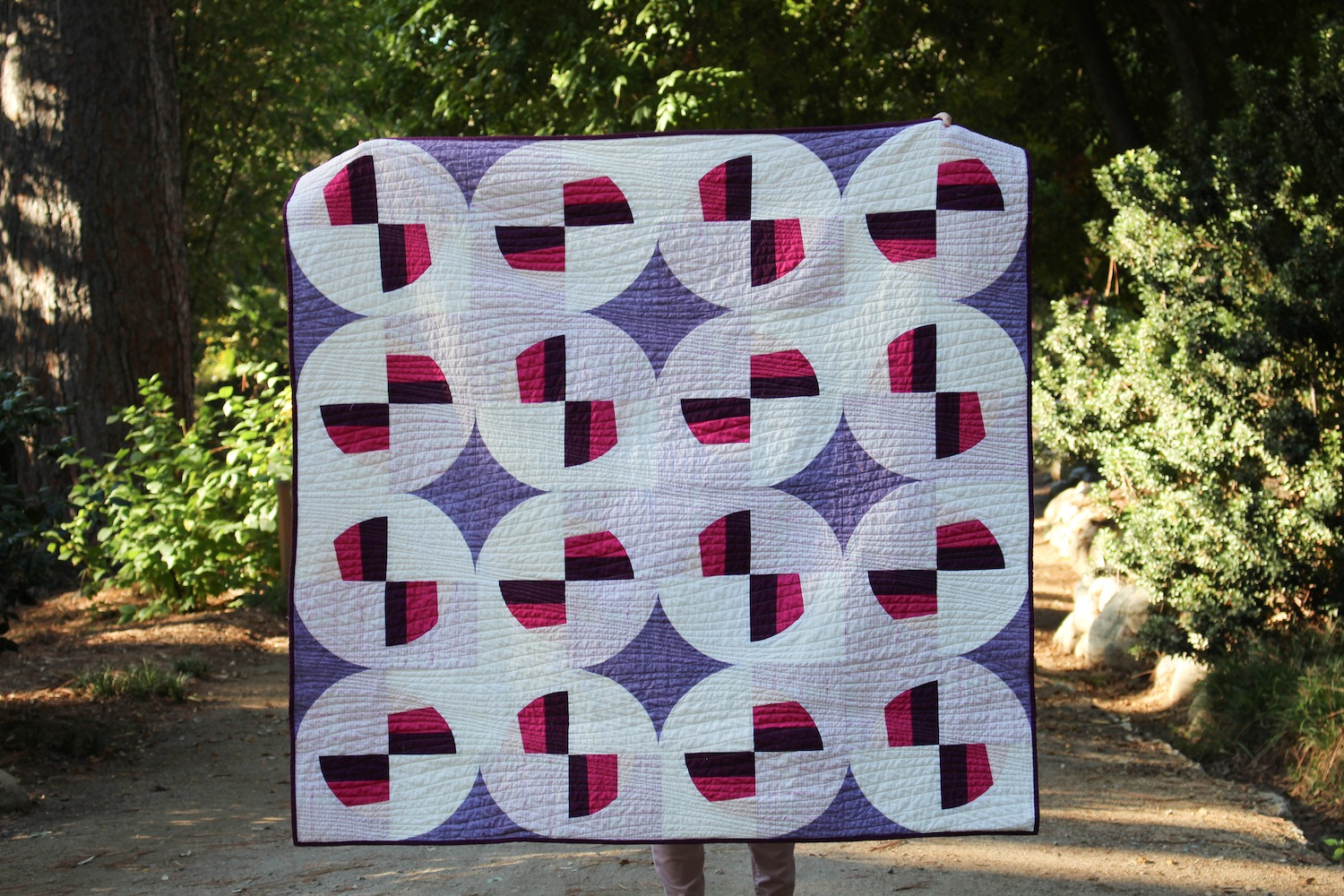 Figueroa - 53x51 | 2018, Quilt 015Modern Fans by Suzy Quilts