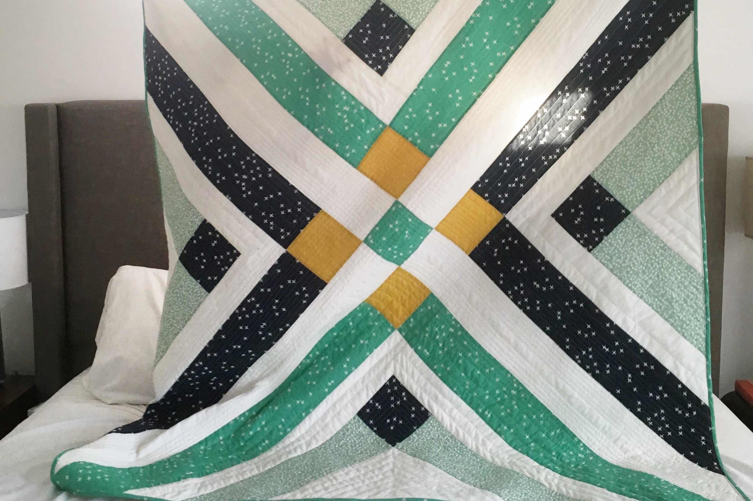 Hacienda - 55x63 | 2018, Quilt 005Retro Plaid by Suzy Quilts