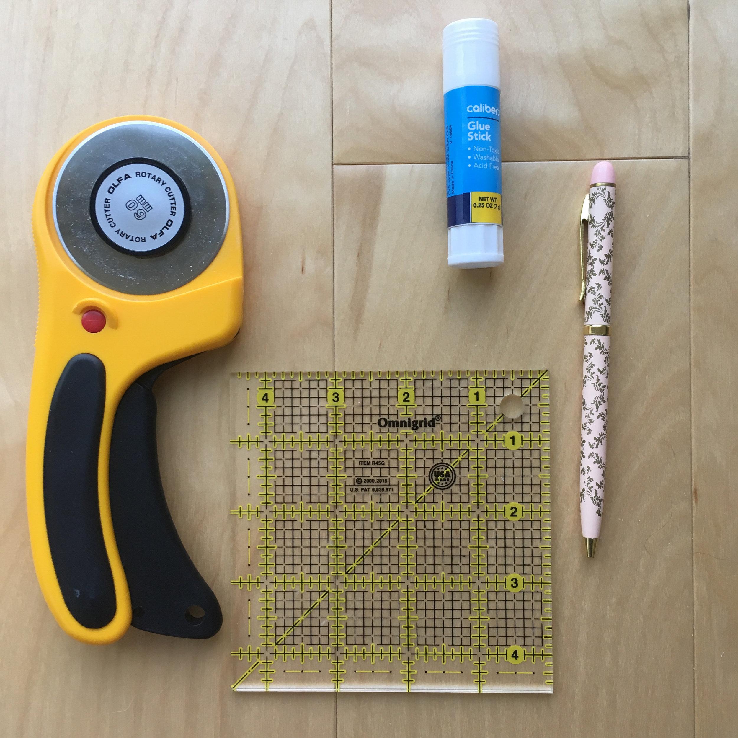 Materials - Heavy CardboardMagnetic SheetsRulerScissorsNon-fabric scissorsPenClear Glue Stick