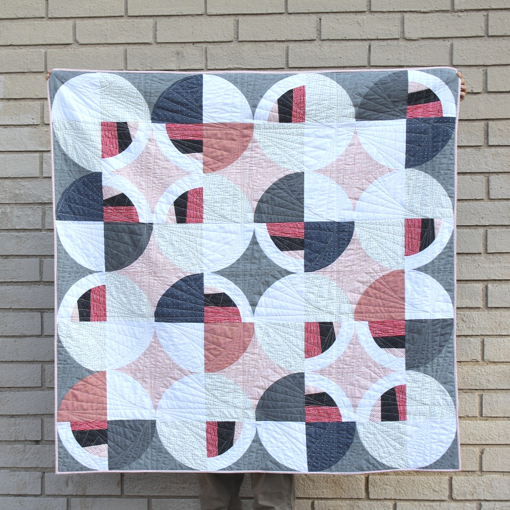CAPITOL  52 x 51 | 2018, Quilt 016 Modern Fans by Suzy Quilts