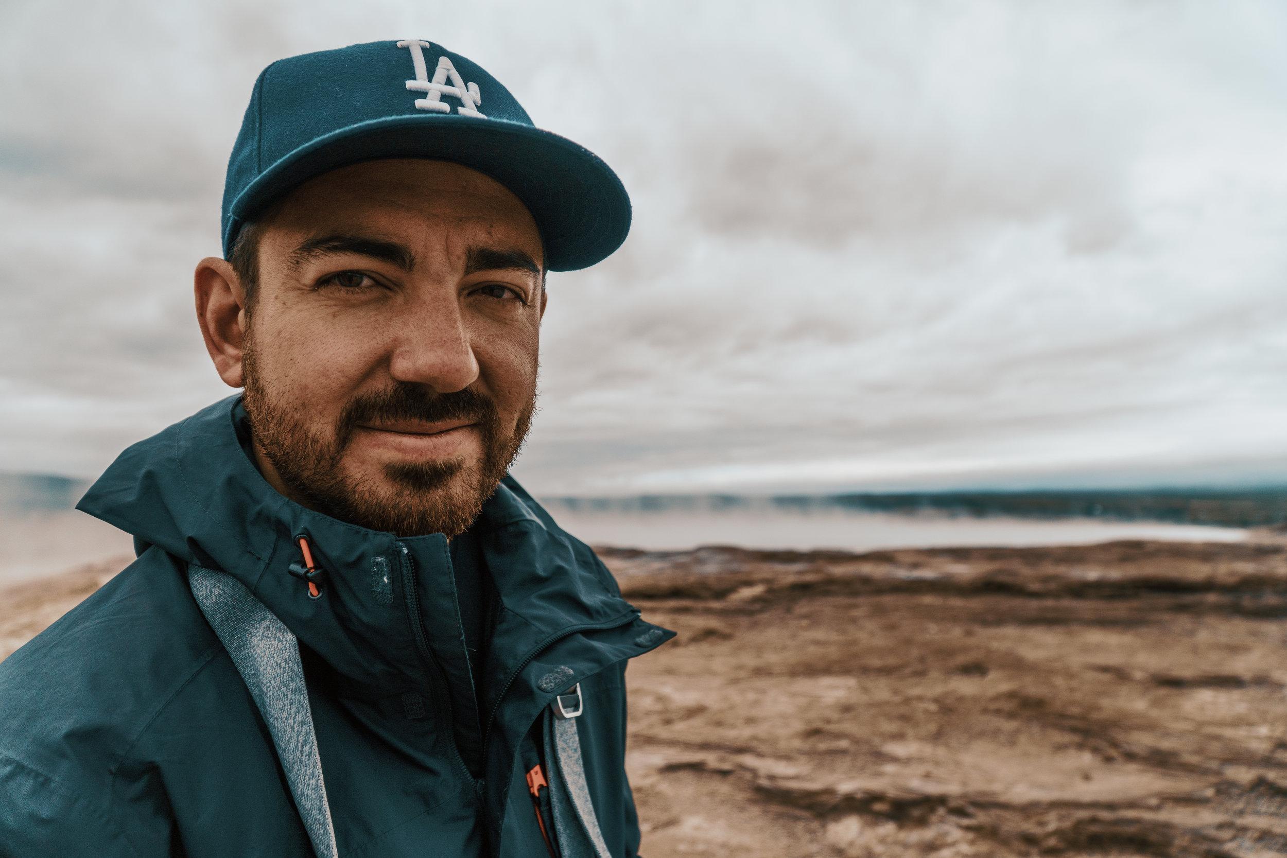 Matt Forero on his travels through Iceland. Photo Credit: Katelyn Forero