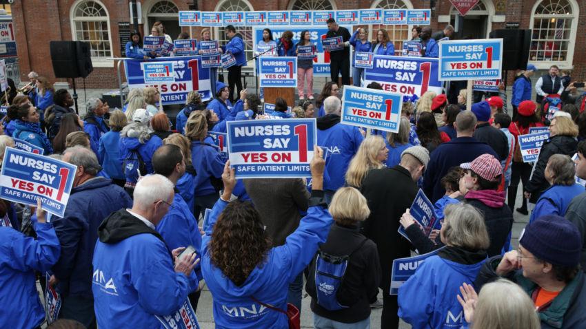 Massachusetts Nurses Association rally