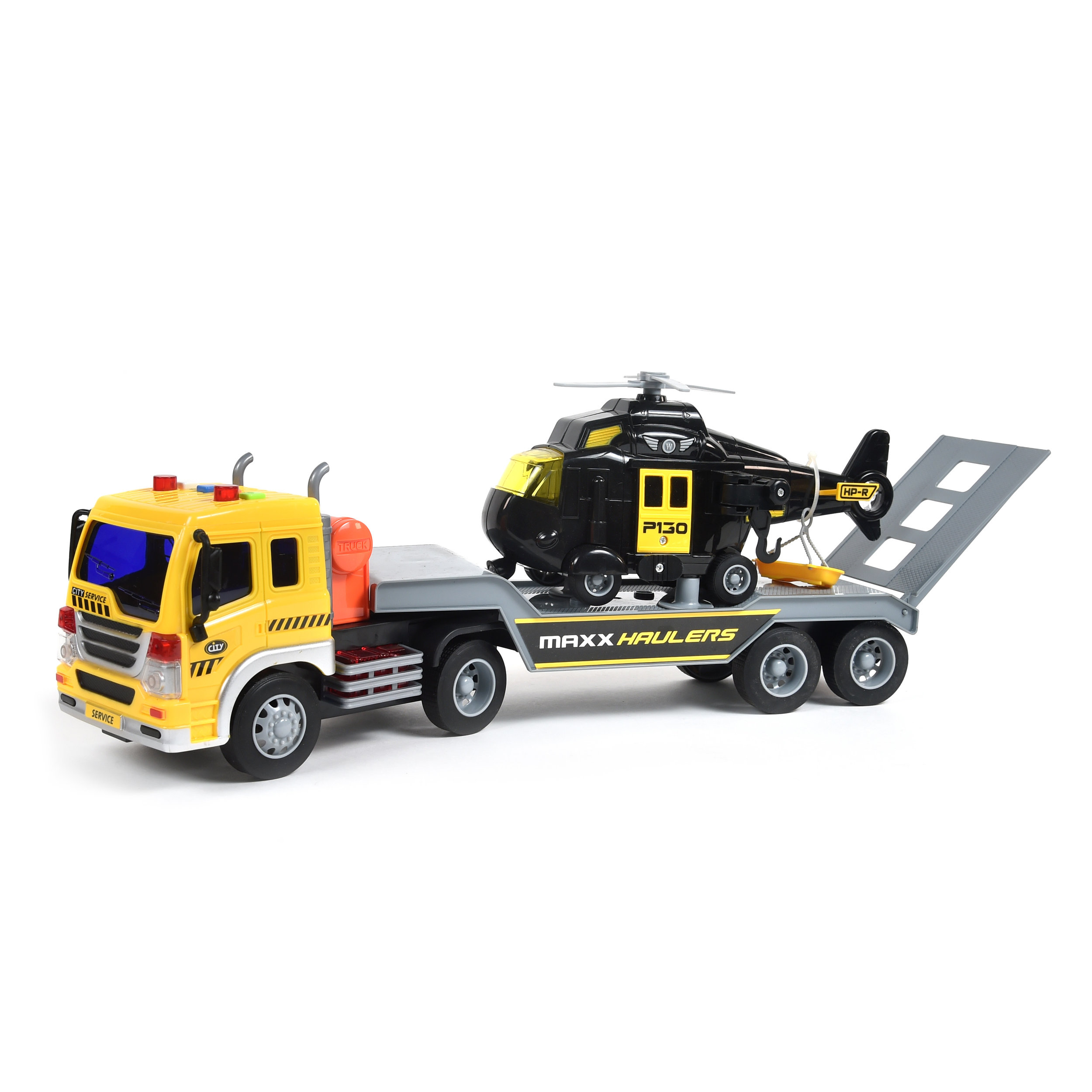 Maxx Action Long Hauler with Helicopter