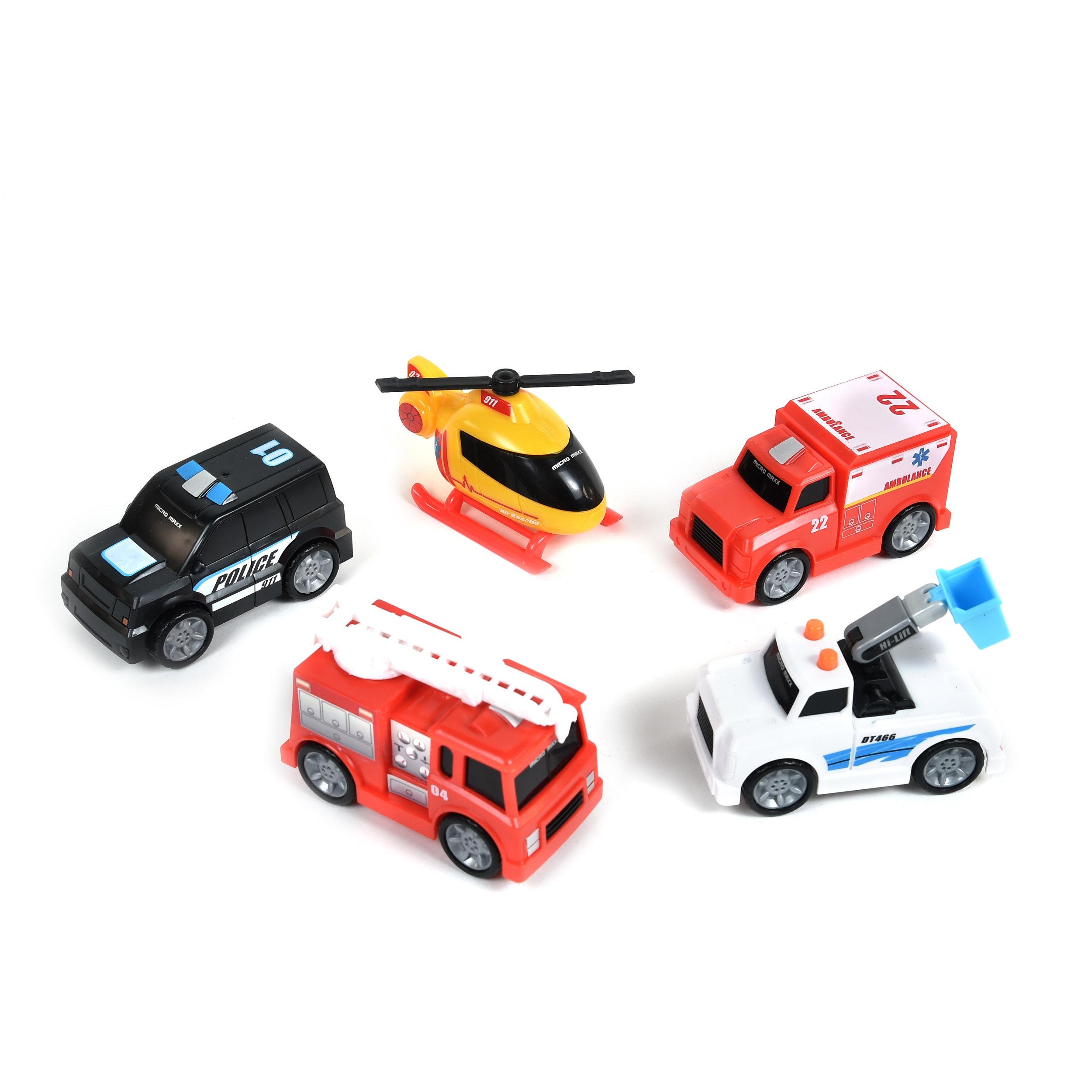Micro Maxx City Rescue Series 5-Pack