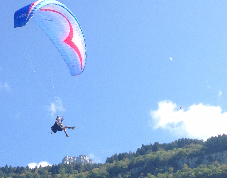 Paragliding jumps