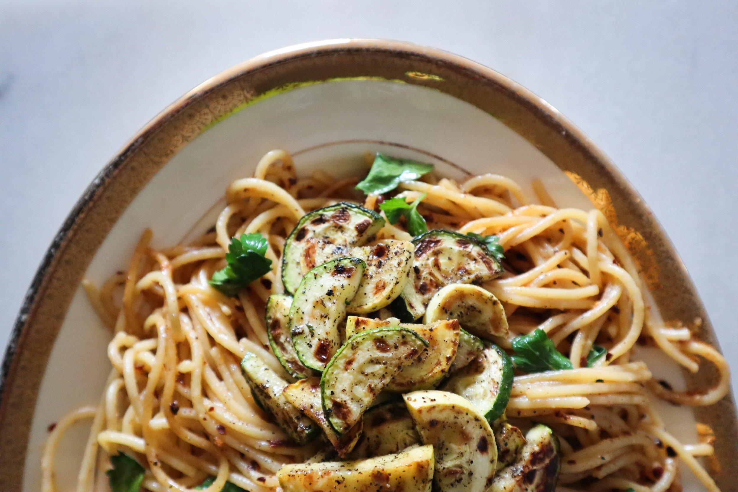 Preserved Lemon Pasta with Zucchini & Squash | Daughter Jean
