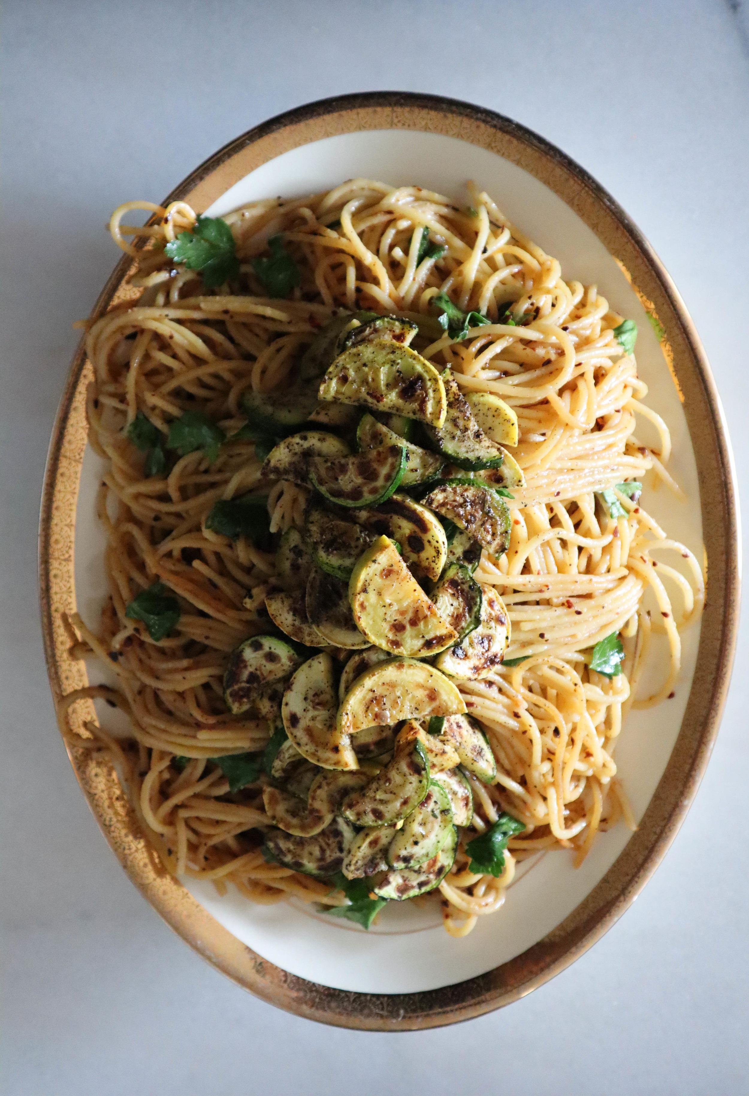Preserved Lemon Pasta with Zucchini &  Yellow Squash | Daughter Jean