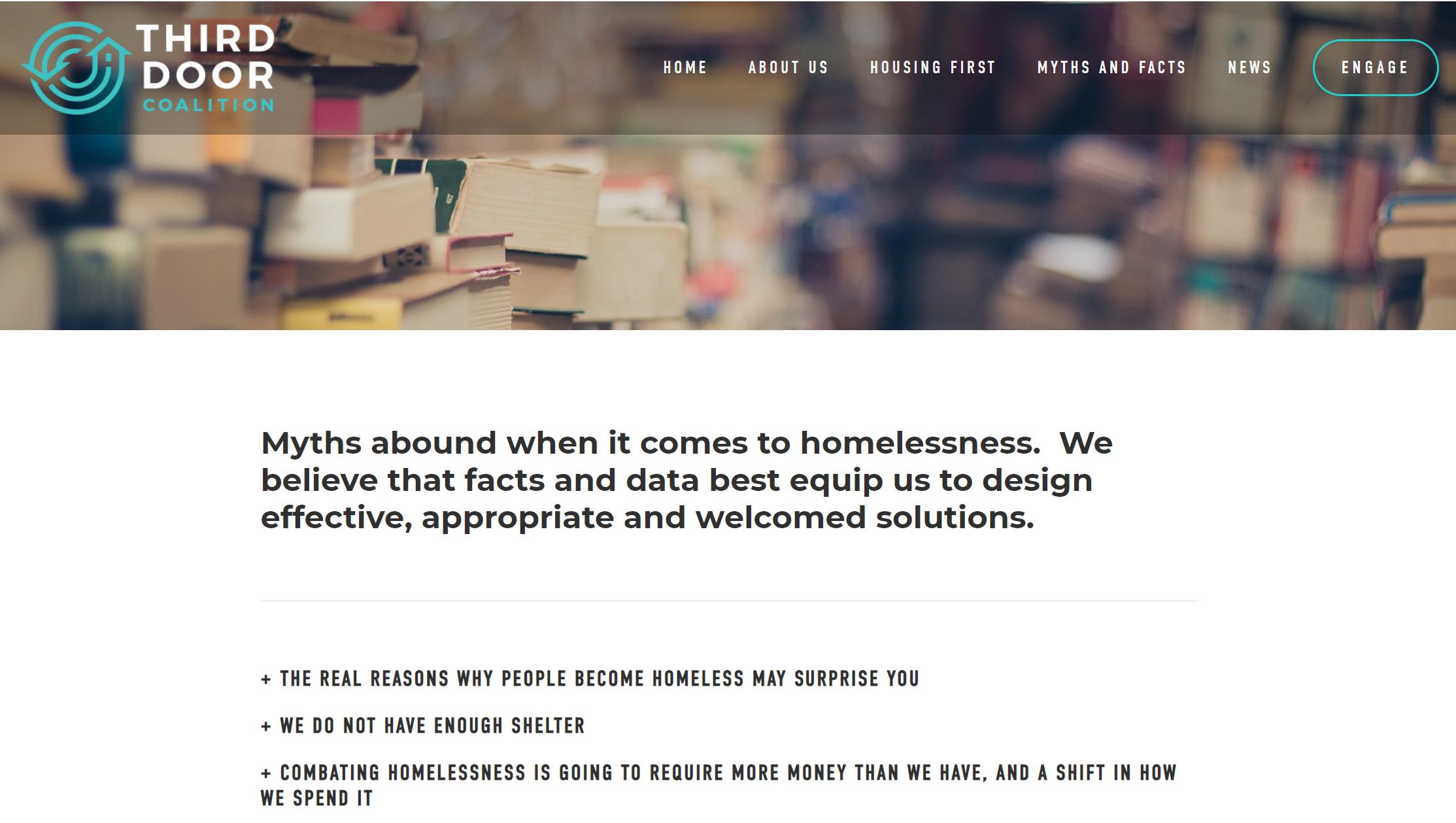 Creating a website - for Third Door Coalition