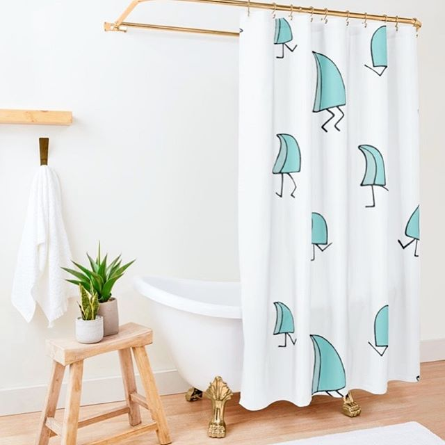 Rise and shine with the new Sea Leg's shower curtain 💦 Available in 2 styles! Shop the link in the bio ☺️🤩. . . . . . . . #sealegs #sealegscartoon #surfcartoon #showercurtain #surfillustration #illustration #cartoon #handdrawn #artgram #surfing #surf #waves #surfboard #art #humor