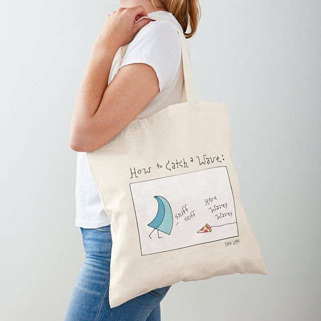 oooooh yes! Sea Legs tote bags are here ☀️🥳 just in time for school! Carry all your stuffs in style and make your friends smile at the same time 👀😂💕 Shop the link in bio above ^^ . . . . . . .  #sealegs #sealegscartoon #surfcartoon #totebag #totesadorbs #surfillustration #illustration #cartoon #handdrawn #artgram #surfing #surf #waves #surfboard #art #humor