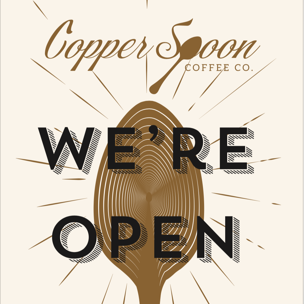 Cooper Spoon Coffee Grand Opening Card