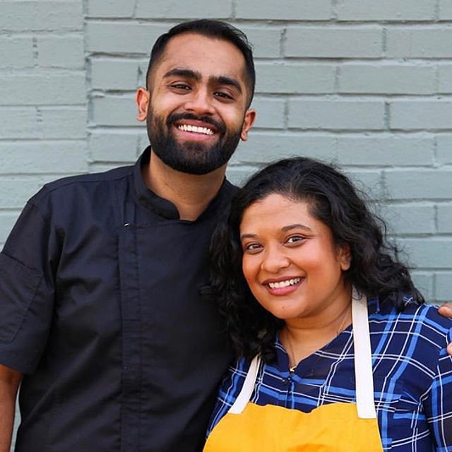 For Brown in the South Vol II in Nashville, we were joined by these two gems, Farhan Momin @farmo and Samantha Fore @tuktuklex. They're joining us in Raleigh this weekend, too ☺️ . . . . . 📷 @mollymil #browninthesouth