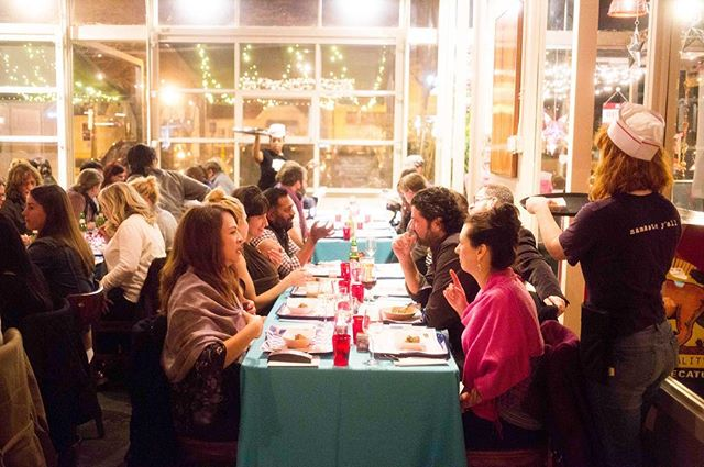"Here's a peek into the first #browninthesouth dinner at @chaipanidecatur. ""At my table, I dine with white Atlanta farmers, a Kentuckian chef of Sri Lankan descent, a reporter of Indian heritage, and Southern-born African Americans who work in publishing and academia. This is the version of the South that I've wanted to be a part of since settling here, and to be truthful, the one I've found to be most elusive. The discrete parts have long been present, but don't always engage in the same space at the same time and under such joyous circumstances. The South these self-described ""brown"" chefs celebrate by their thematic collaboration wouldn't exist if they didn't stake a claim in it."" - @osayiendolyn for the Southern Foodways Alliance @southfoodways 📷: @mollymil"