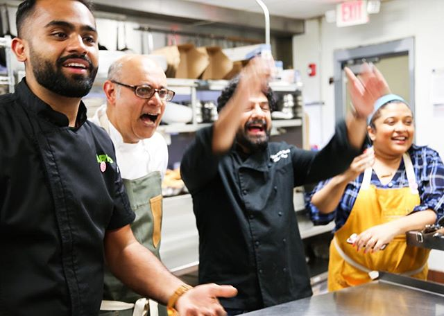 """We wondered if a time would come where we saw ourselves less as Indians that happened to live and cook in the South, but more as Southerners that happened to be of Indian origin,"" says Irani. ""It may seem like a subtle distinction, but it felt big to us."" They reached out to other star chefs of Indian descent with whom they'd had similar conversations, including Cheetie and Maneet, and the concept quickly took shape. Each dinner would be shaped around an iconic Southern institution, ingredient or tradition. ""Irani says that the idea for the series emerged from a conversation he had with Bhatt about the new generation of Indian chefs in the South."" -MARIA YAGODA @foodandwine 📷: @mollymil"