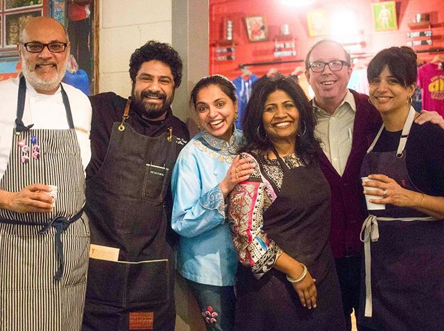 """Last year, these folks came together for an exciting new project: Brown in the South.This collaborative dinner series features acclaimed chefs of Indian descent, Vishwesh Bhatt, Meherwan Irani, Maneet Chauhan, Asha Gomez, Cheetie Kumar, all who have made the American South their home. The very first installment of the """"Brown in the South"""" Supper Series,Desi Diner, was held at Chai Pani Decatur on January 14th, 2018 and the he second dinner, An Indian Supper,was held at Chauhan Ale & Masala House in Nashville on August 13th. We're continuing these dinners all over the Southeast.  This weekend, we will all gather in Raleigh at @garlandraleigh for the 3rd Brown in the South!  Brown in the South proceeds benefit the Southern Foodways Alliance, a member-supported organization based at the University of Mississippi's Center for the Study of Southern Culture that documents, studies, and explores the diverse food cultures of the changing American South through oral histories, films and podcasts. 📷: @mollymil . . . . . ."""