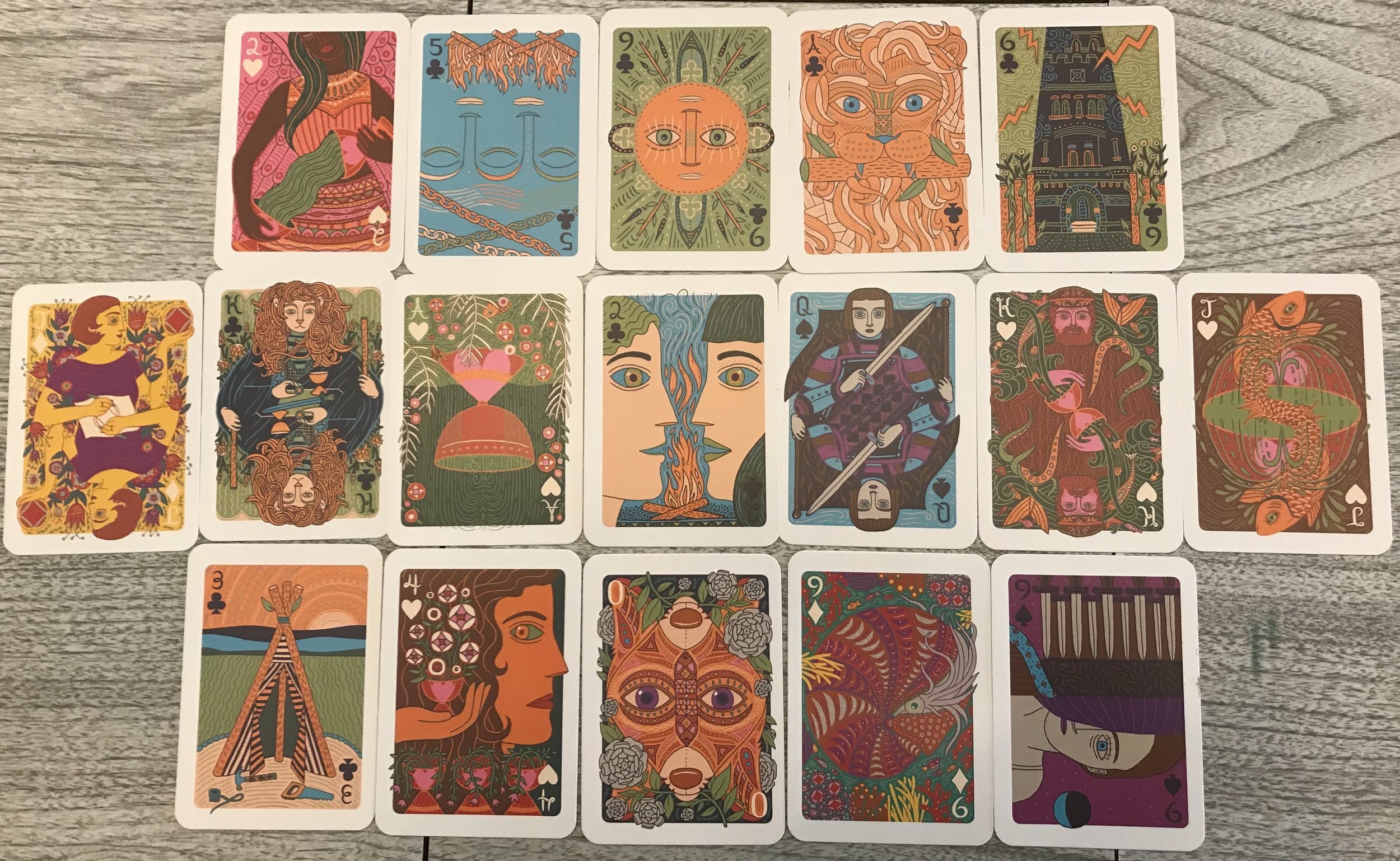 I use Caitlin Keegan's deck,   The Illuminated Tarot  . I like it because the cards are beautiful, the writing is simple and open-ended, and the deck is reduced to the size of a standard deck of playing cards which works great for my compositional system.