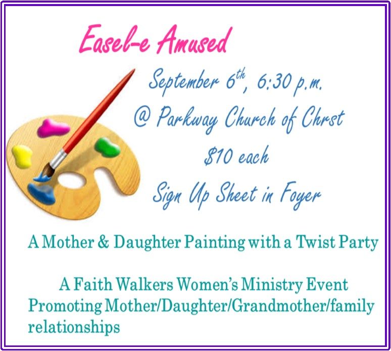 Faith Walkers - This event is for Mother-Daughter, Grandmother-Granddaughter, Aunt-Niece, or Female mentor-female child. The event is to promote love, kindness & sharing within the body of Christ and to be lasting memories to be cherished.
