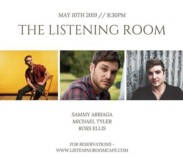 Friday night round with @michaeltylermusic & @sammyarriaga at the @listeningroomcafe  Come sangalong 🤟