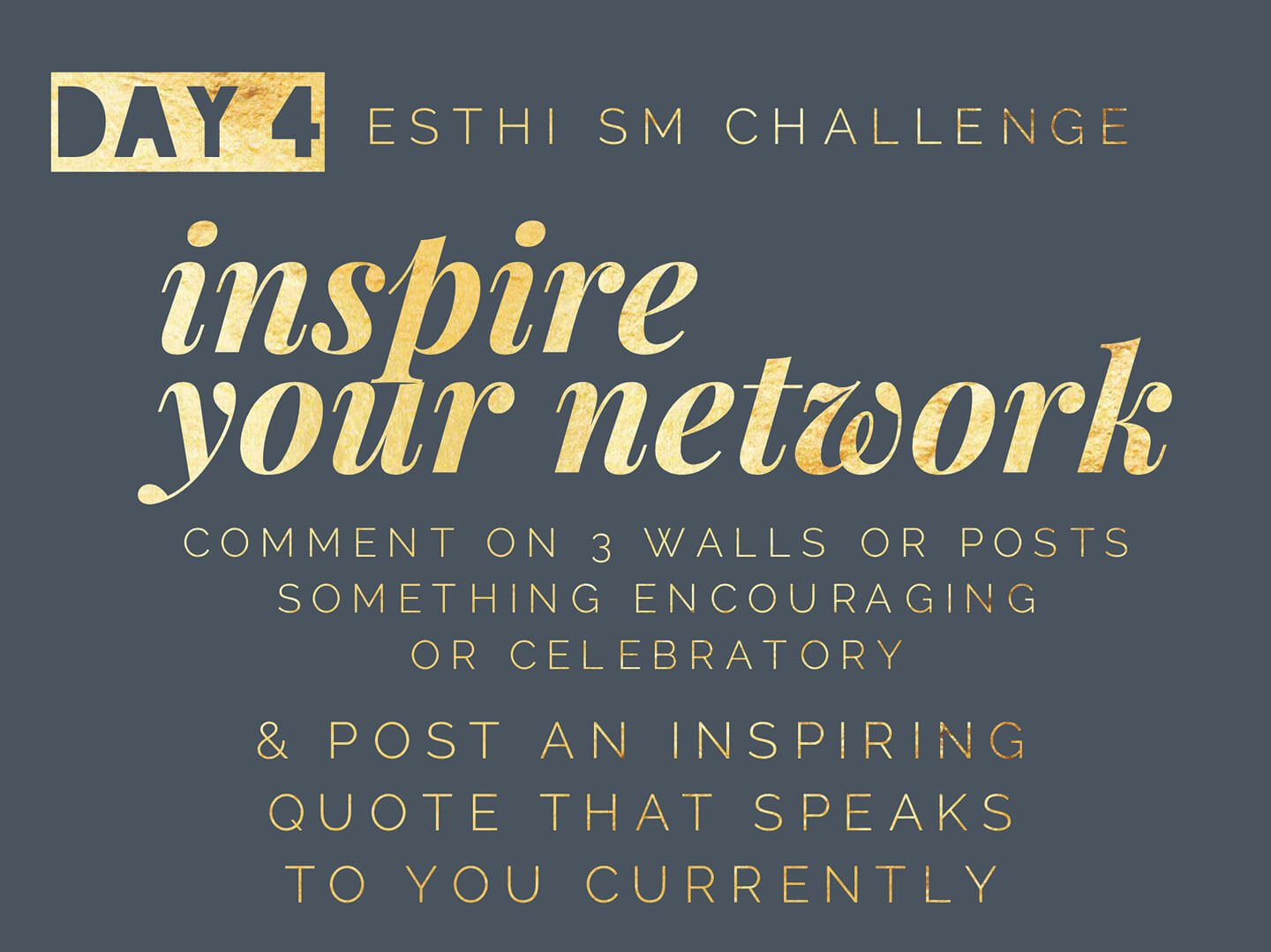 inspire your network! - This post is little different. It doesn't pertain directly to being an esthetician, but definitely has a lot to do with your business.I don't know about you, but I feel incredibly fortunate to have a job that doesn't