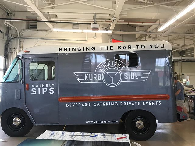 Logo is on. Beer cooler is on. Kegerator is on. Cocktail Hour is on. Party is on. #mainelysips