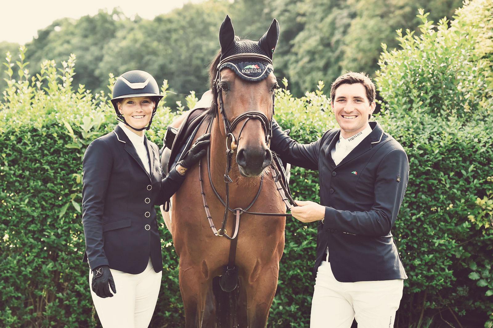 Michael sammen med kjæresten Jana