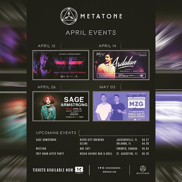 ***UPDATED FLYER*** Check out @metatoneevents upcoming events. We have some of the best #housemusic / @dirtybirdrecords artist coming through @rivercitybrewingjax in @jacksonville FL . . . #waxmotif @waxmotif #dirtybird #dirtybirdcampouteast #floridaedm #edmflorida #floridaedmfam #jaxedm #edmjax #rivercitybrewingcompany #sagearmstrong #ardalan #jaxmusicscene #jaxnightlife #jaxdj