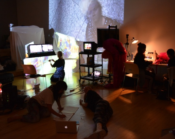 """AUNTSforcamera"" Production Week: Open Studios (September 10–14, 2014). Photo: Travis Chamberlain"