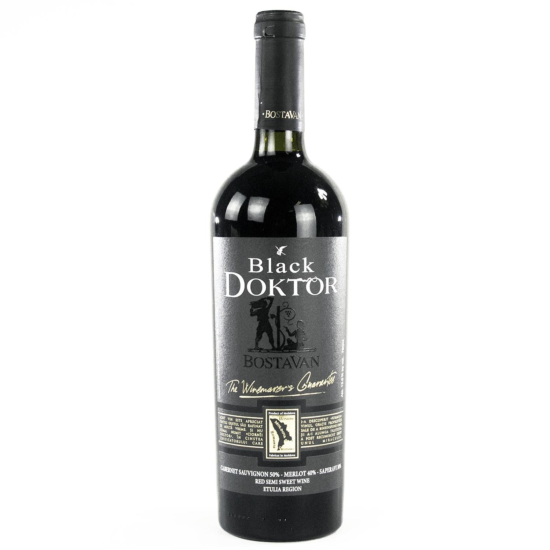 Bostavan Black Doktor Red Semi Sweet Wine