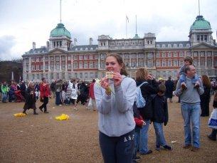 Me after running the London Marathon