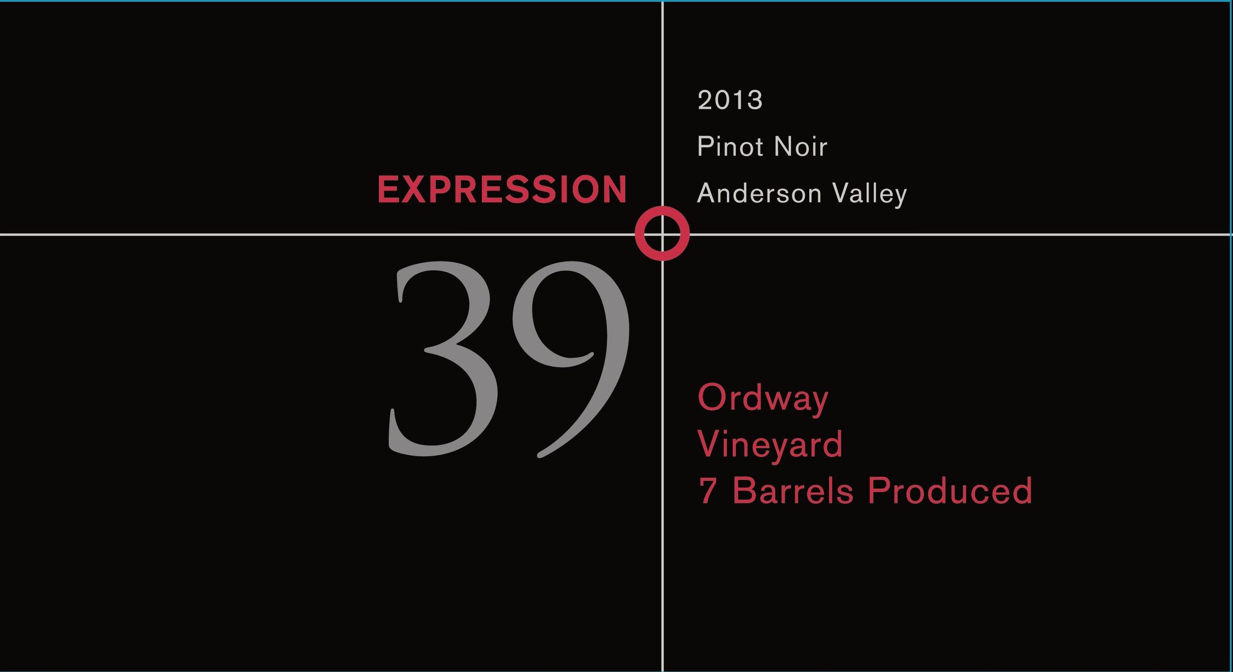 2013 Ordway Vineyard Pinot Noir