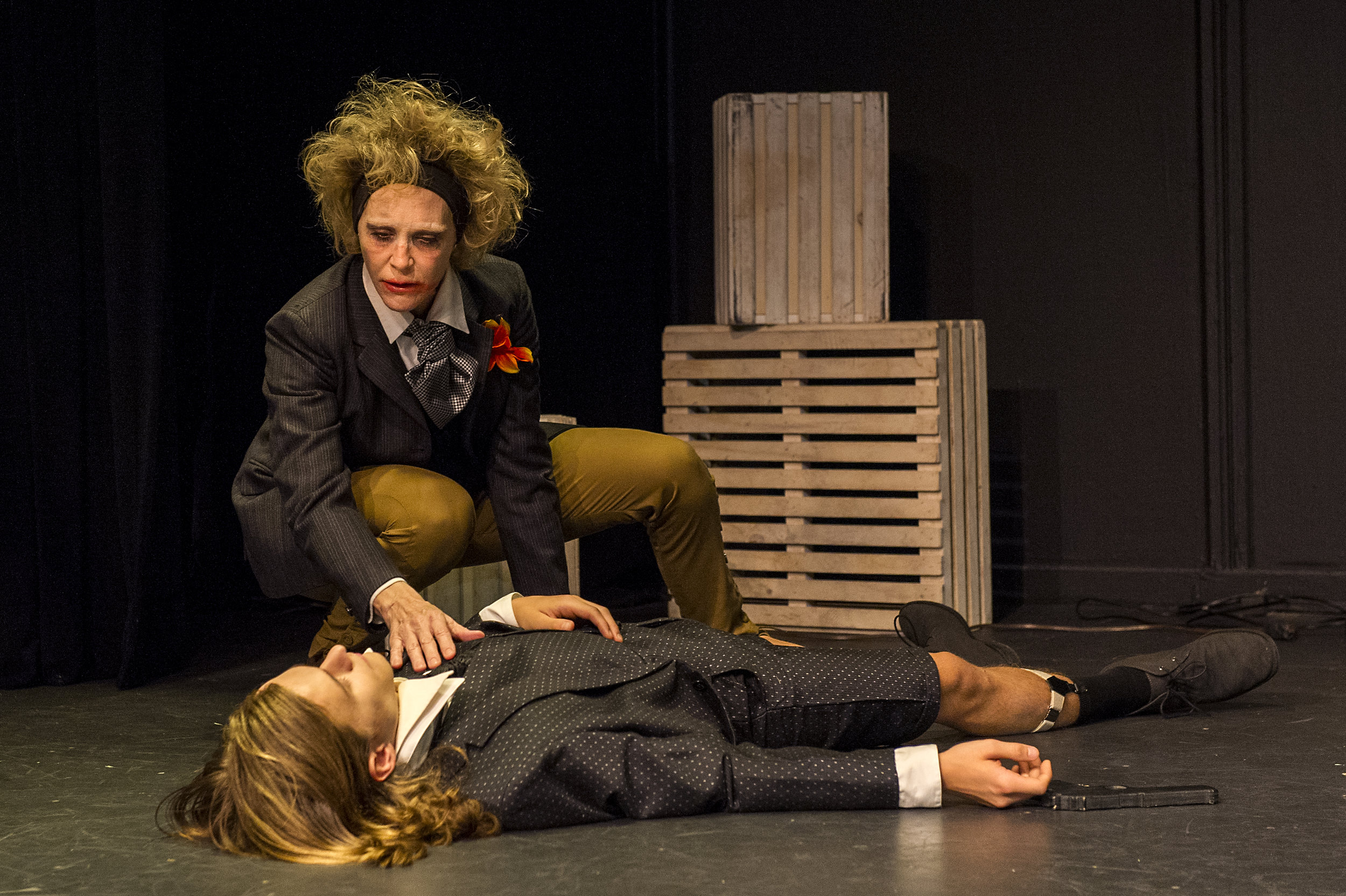 Jennifer Jewell* (The Man with a Flower in His Mouth) and Alex Might (The Boy)