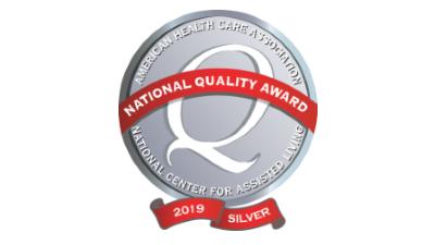 Pavilion Rehabilitation and Nursing Center 2019 Silver National Quality Award -