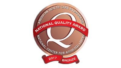 Pavilion Rehabilitation and Nursing Center 2017 Bronze National Quality Award -