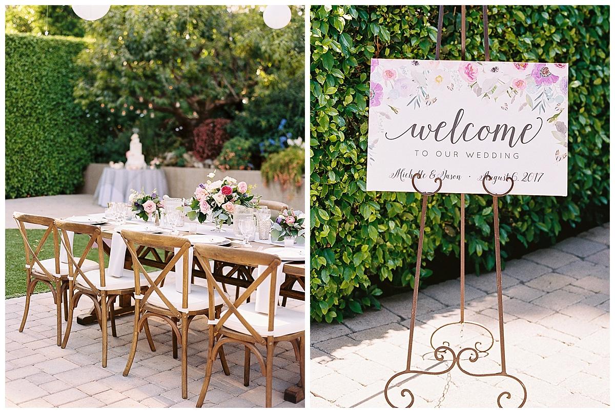 Firefly Garden Wedding Welcome Sign