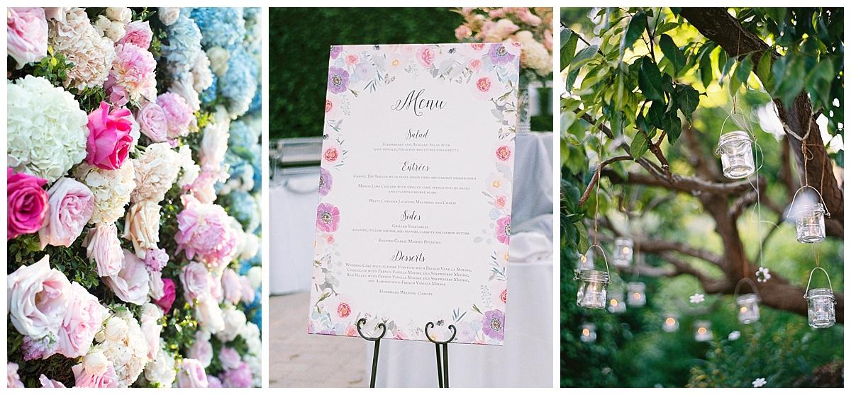 Custom Wedding Menu Sign