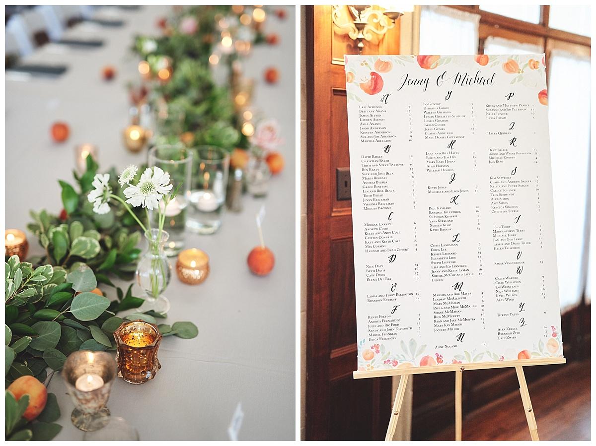 Georgia Peach Wedding Feature - Custom Seating Chart