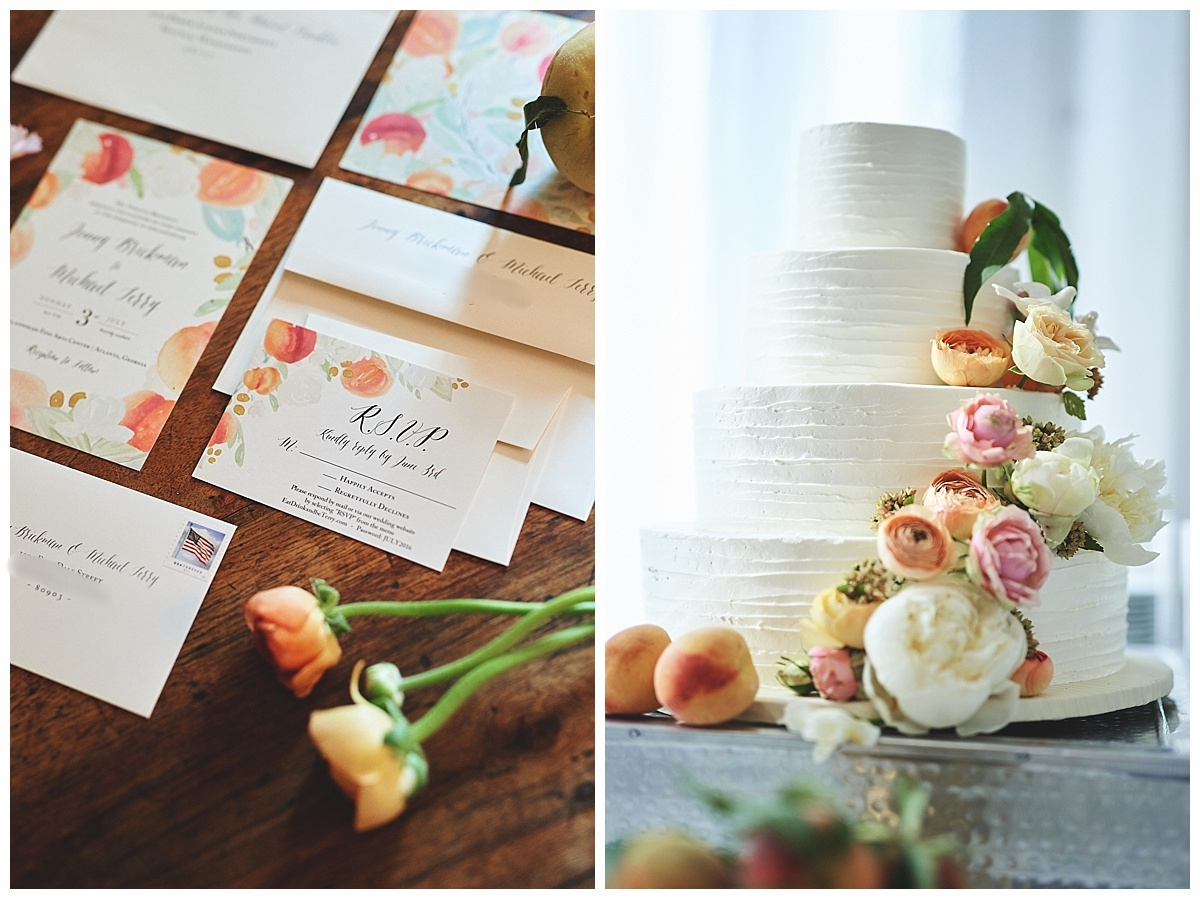 Georgia Peach Wedding Feature - Bespoke Stationery Suite