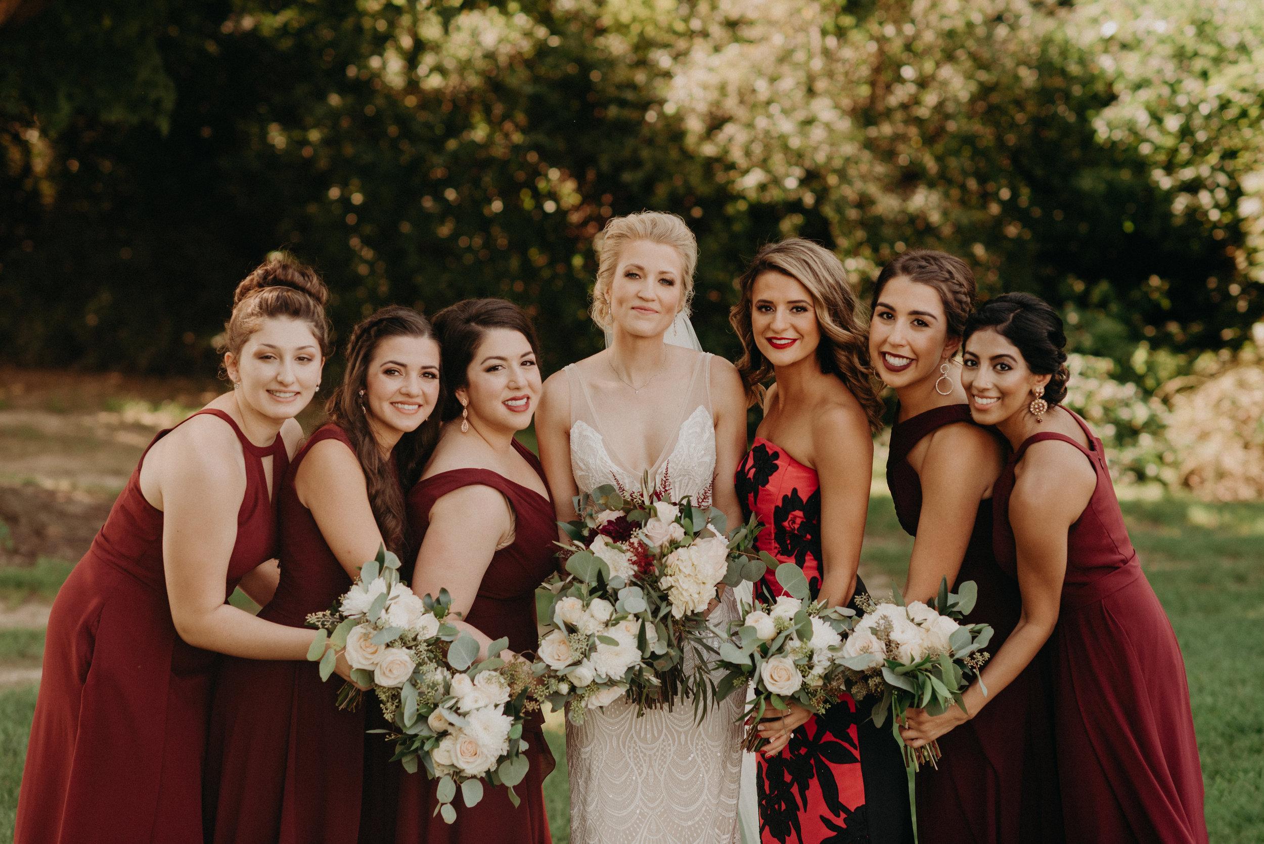 Bridesmaids Photos from Moline, Illinois + Bettendorf, Iowa Wedding Day Photographer