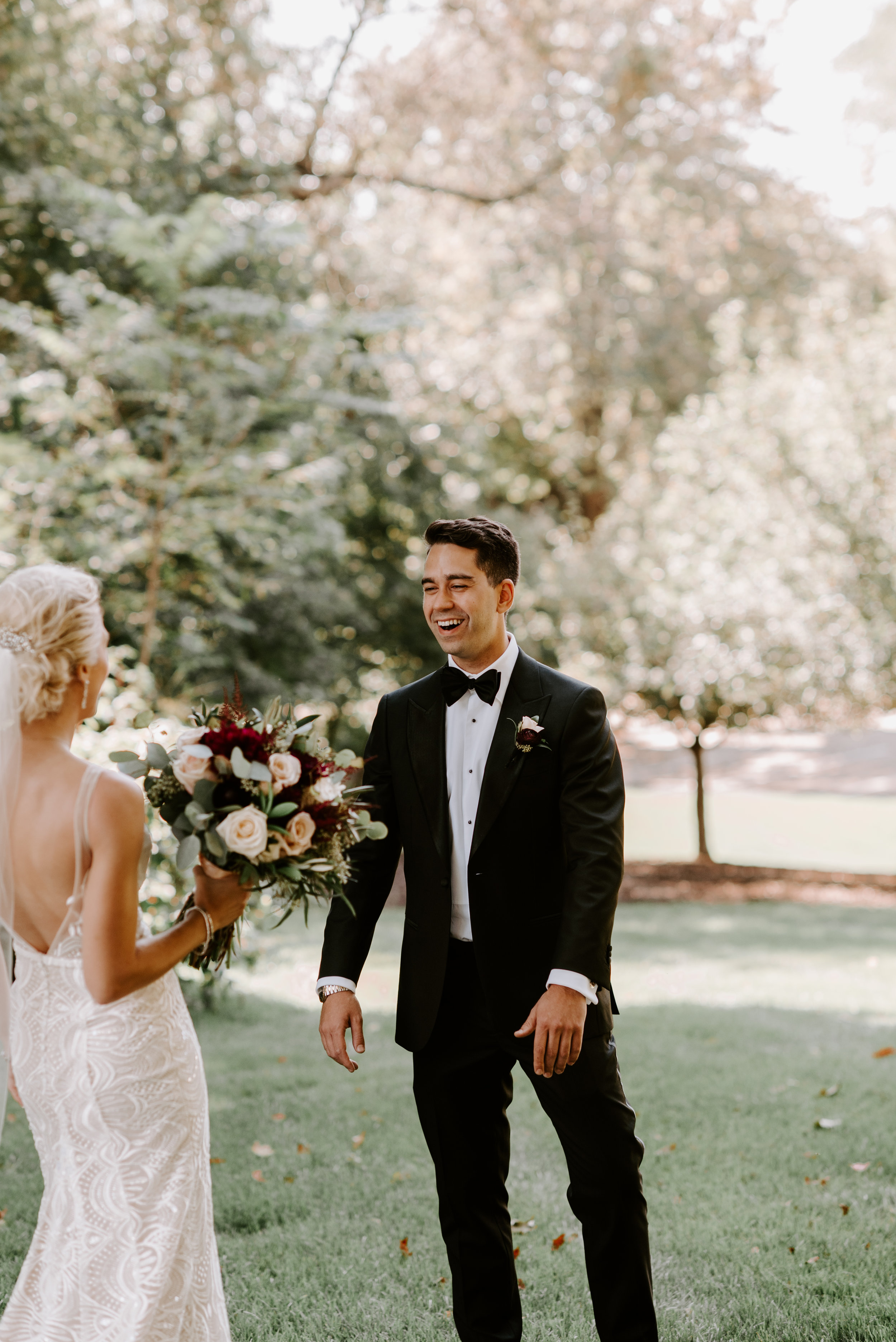 Quad Cities Wedding Photographer   First Look Pictures