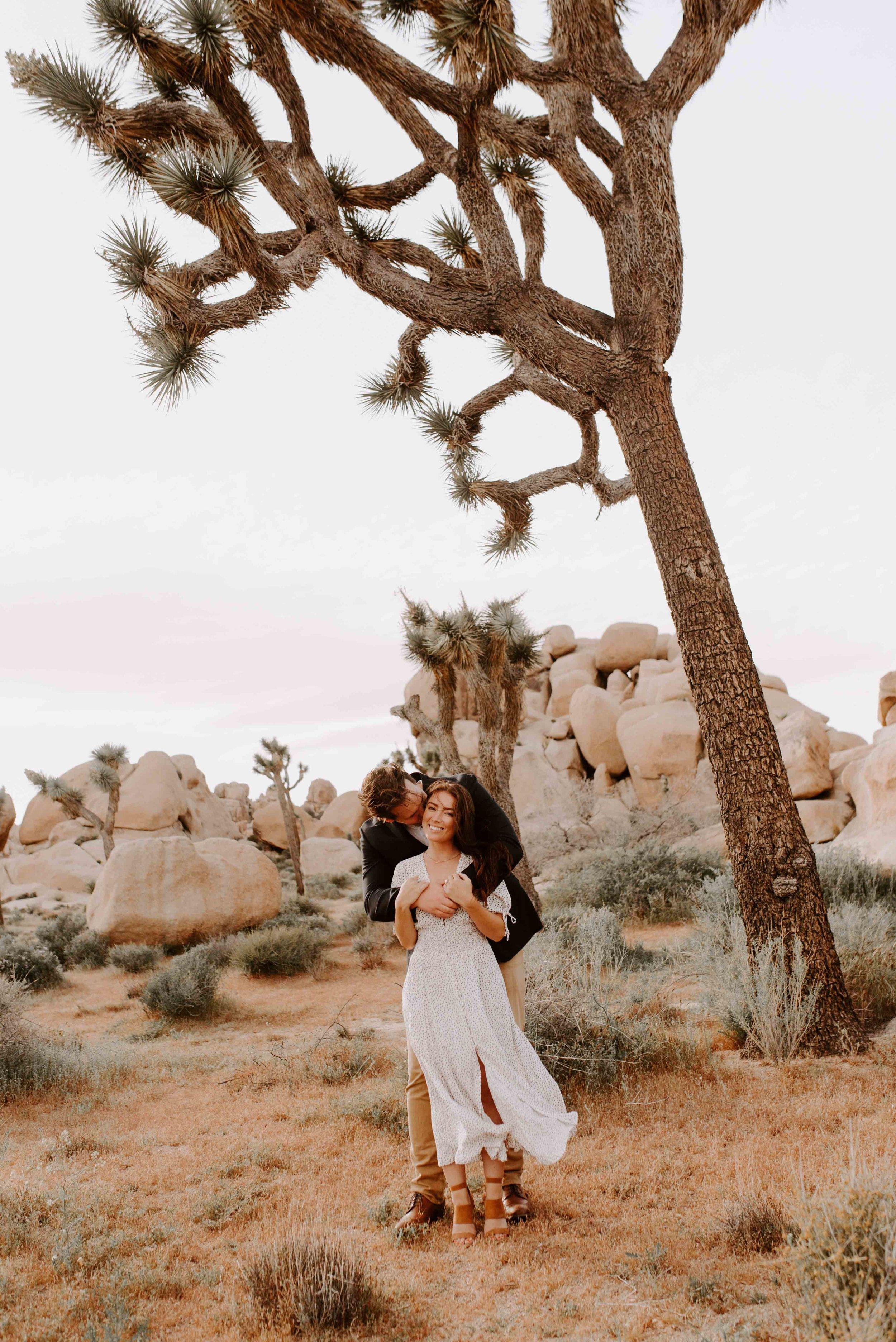 Meggie + Cam   Joshua Tree Engagement