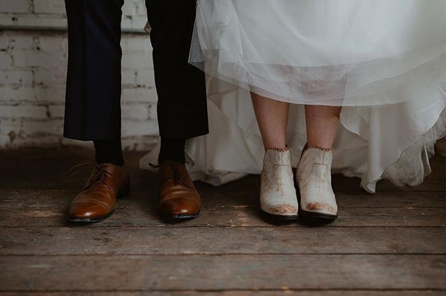 Can't see much of the dress we worked on, but this was too cute not to share! 👞 👡