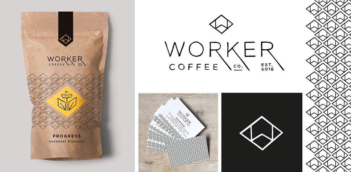 worker coffee branding